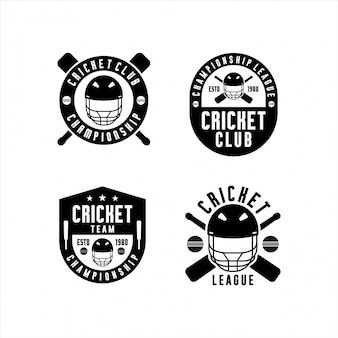 Cricket championship league logo's collecties