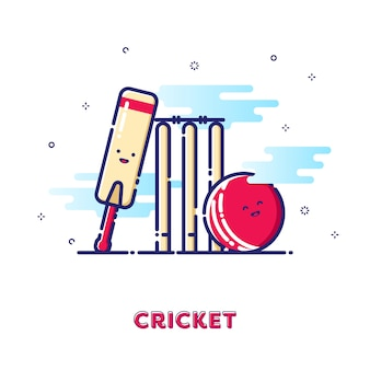 Cricket illustratie