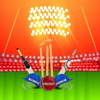 Cricket kampioenschap toernooi concept