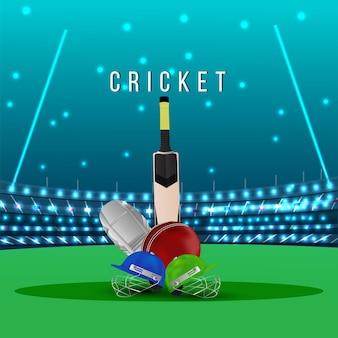 Cricket kampioenschap toernooi wedstrijd