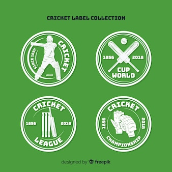 Cricket label ingesteld