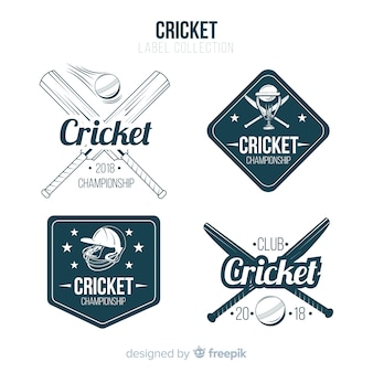 Cricket label ingesteld