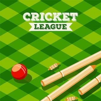 Cricket league achtergrond