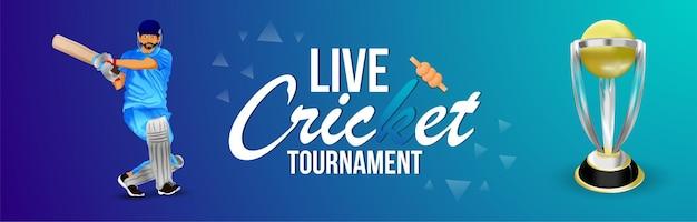 Cricket toernooi wedstrijd banner