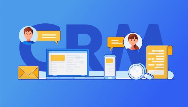 Crm-concept illustratie