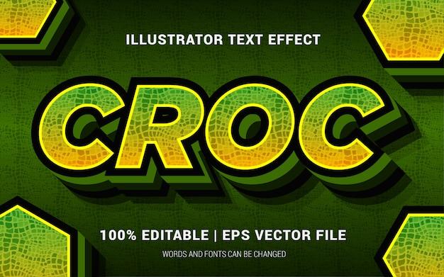 Croc tekst effecten stijl