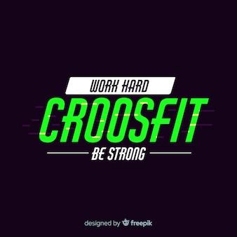 Crossfit motiverende embleem vlakke stijl