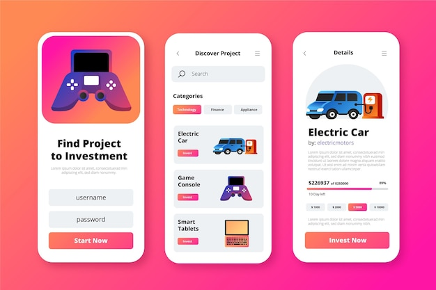 Crowdfunding app-concept