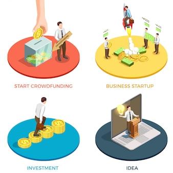 Crowdfunding compositie set
