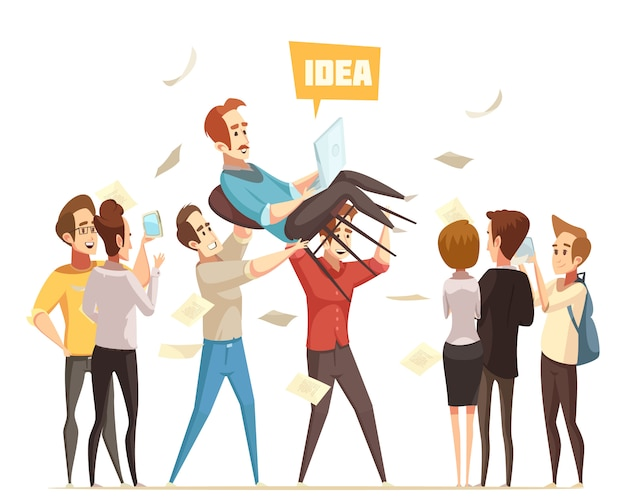 Crowdfunding illustratie