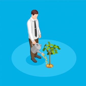 Crowdfunding illustratie