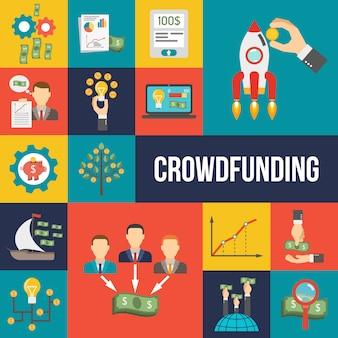 Crowdfunding vlakke set