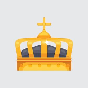 Crown icon award voor winnaars, kampioenen, leiderschap. koninklijke koning, koningin, prinseskroon.