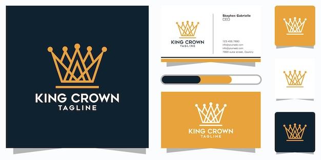 Crown royal grafisch ontwerpsjabloon en visitekaartje ontwerp