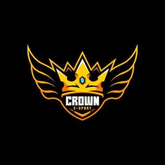 Crown wing fly badge koning