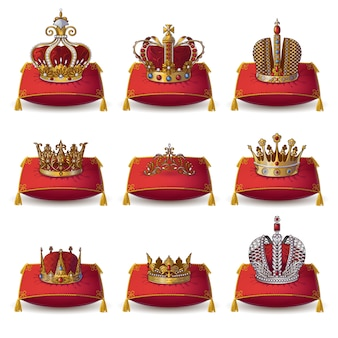Crowns of kings and queen collectie