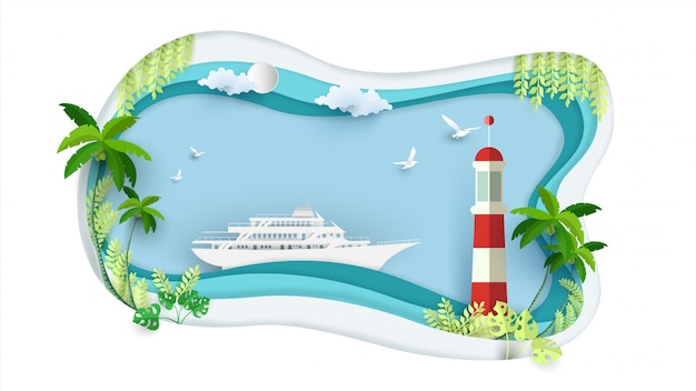 Cruises en vuurtorens in de papierkunst