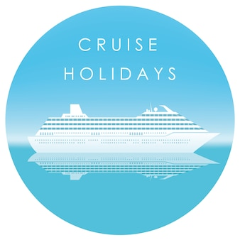 Cruiseschip in de zee
