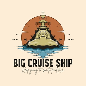 Cruiseschip logo sjabloon