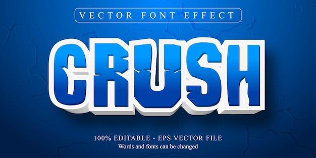Crush-tekst, bewerkbaar teksteffect in cartoonstijl