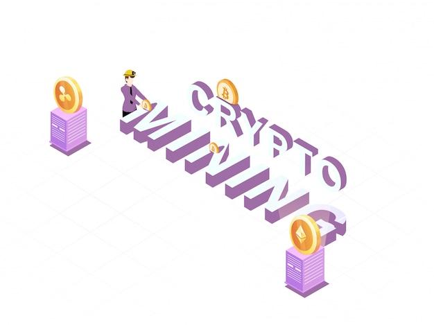 Crypto-mijnbouwconcept.