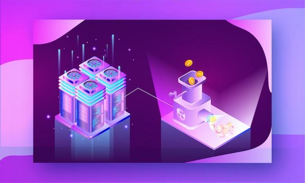 Crypto mining-concept.