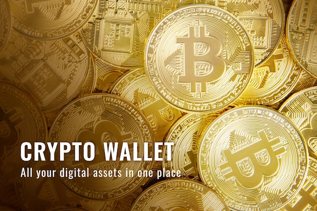 Crypto portemonnee financiering sjabloon vector open-source blockchain blog banner