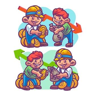 Crypto trading up trading illustratie