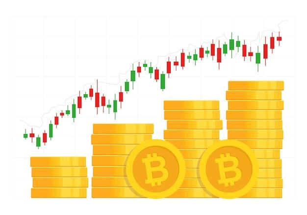 Crypto valuta concept.
