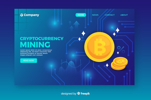 Cryptocurrency-bestemmingspagina