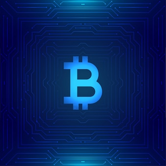 Cryptocurrency bitcoin technologie concept achtergrond