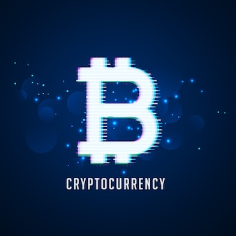 Cryptocurrency digitale bitcoins symbooltechnologieachtergrond