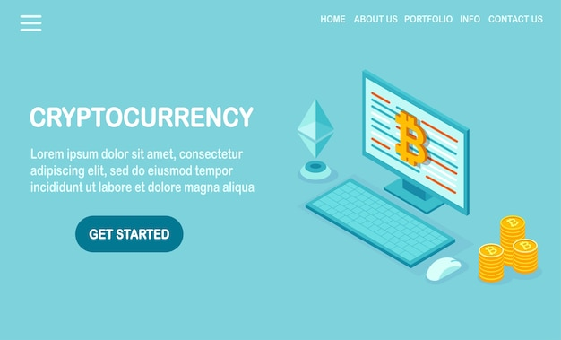 Cryptocurrency en blockchain.