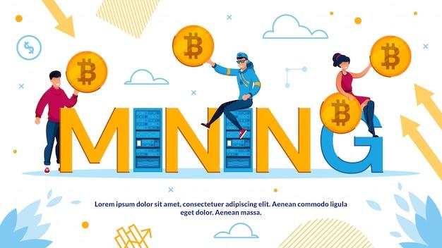 Cryptocurrency en bockchain-mijntechnologie