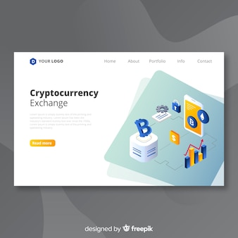 Cryptocurrency exchange bestemmingspagina sjabloon