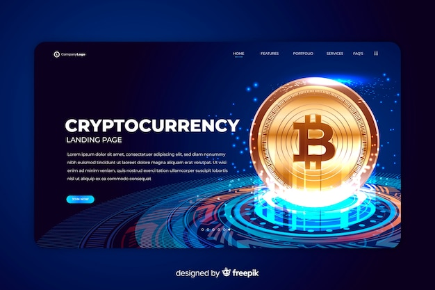 Cryptocurrency exchange bestemmingspagina sjabloon