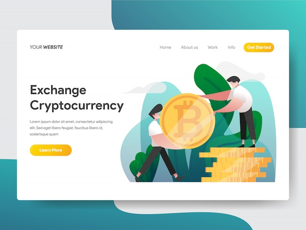 Cryptocurrency exchange illustratie