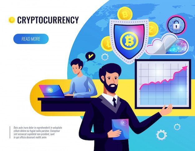 Cryptocurrency illustratie