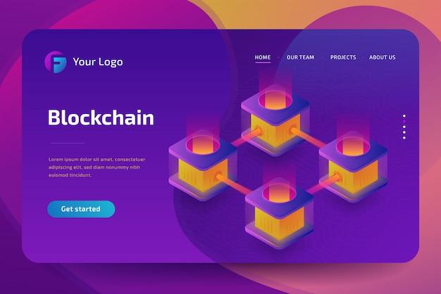 Cryptocurrency-mijnbouwbedrijf. creatie van bitcoins. 3d isometrisch