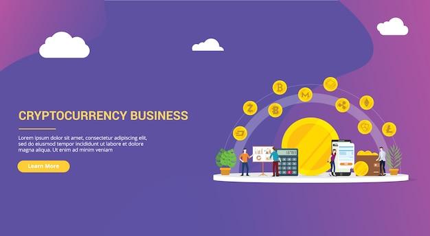 Cryptocurrency zakelijke website ontwerp