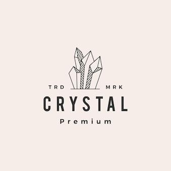 Crystal edelsteen vintage logo