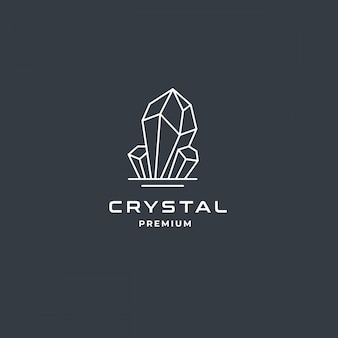 Crystal gem of diamond jewelry-logo