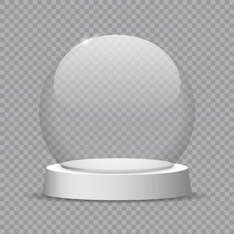 Crystal globe ontwerp illustratie.