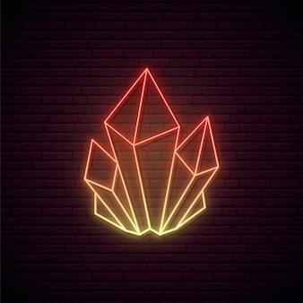Crystal neon teken.