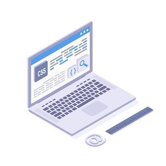 Css-programmeertaal, website-ontwikkeling, het maken van mobiele apps. c