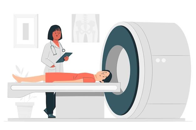 Ct-scan concept illustratie Gratis Vector