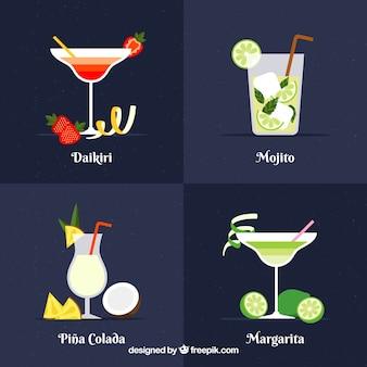 Cuatro bebidas exotica