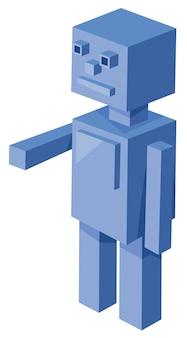 Cubical robot stripfiguur