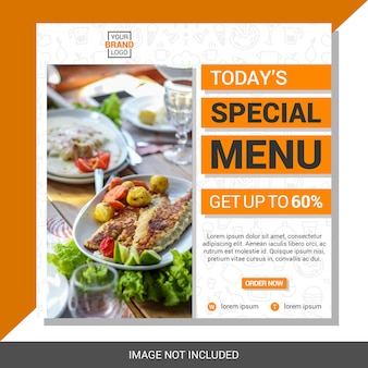 Culinaire social media postsjabloon