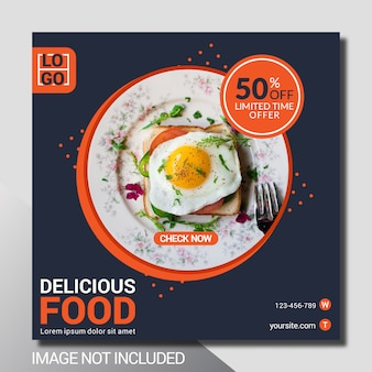 Culinaire sociale media postsjabloon
